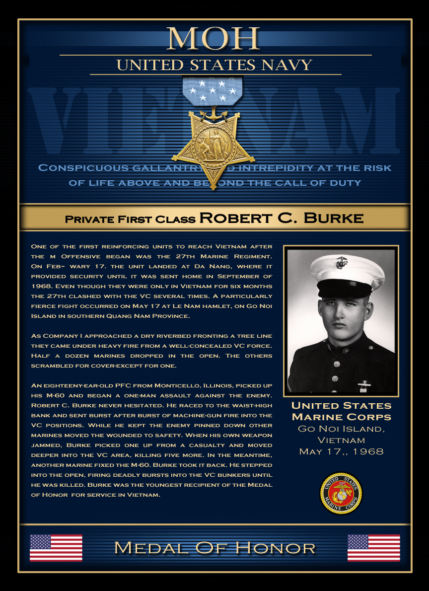 MOH : Private First Class Robert C. Burke