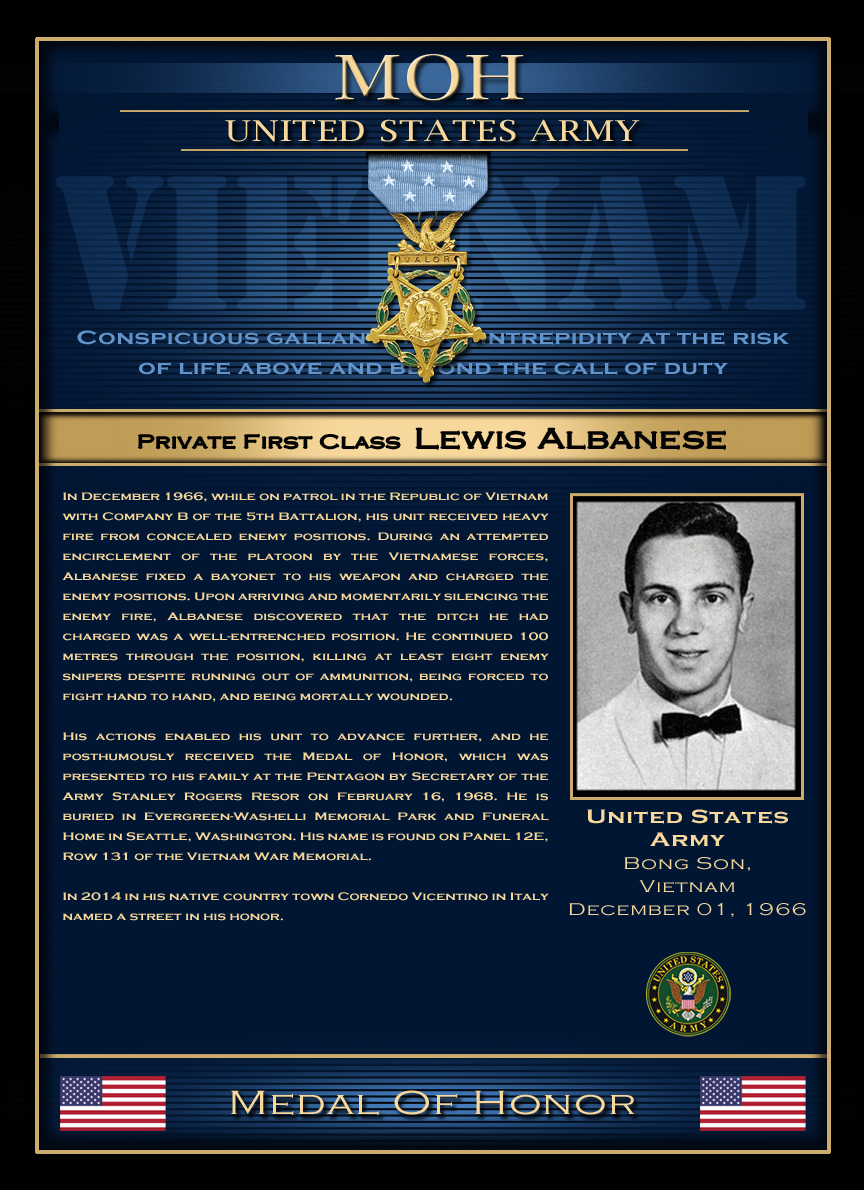 MOH : Private First Class Lewis Albanese