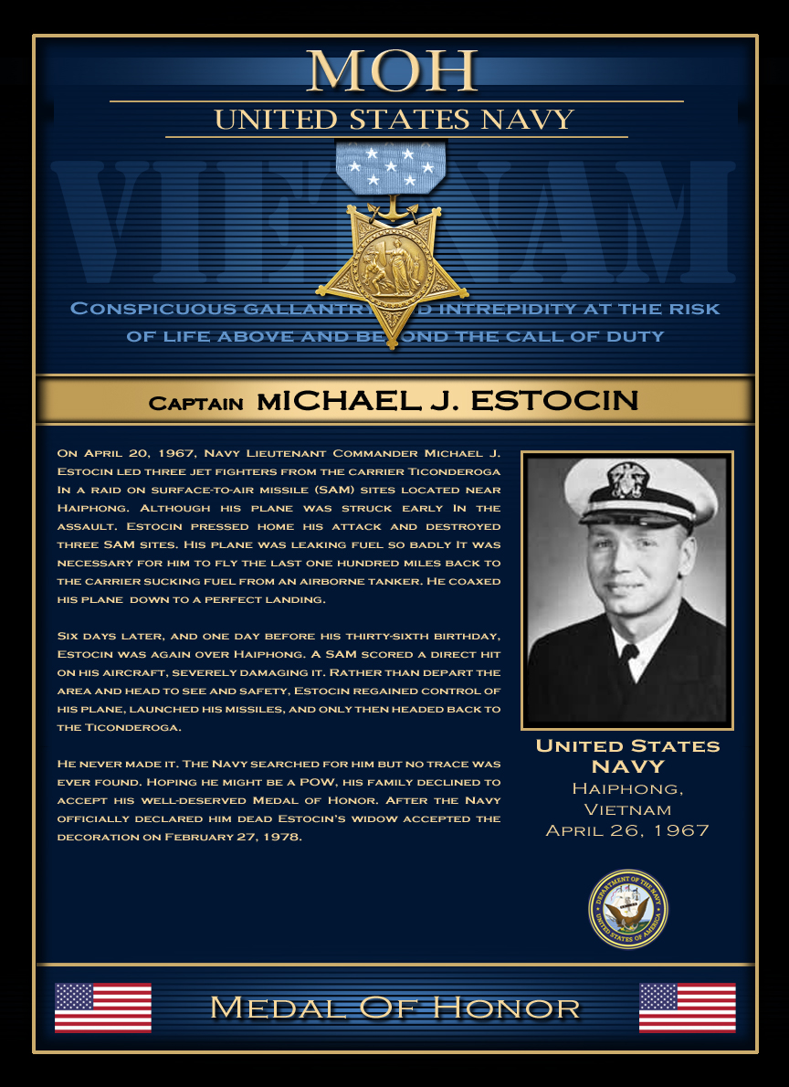 MOH : Captain Michael J. Estocin