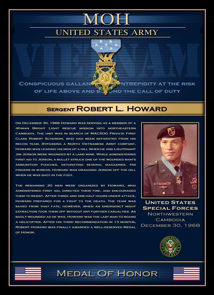 MOH : Sergent Robert L. Howard
