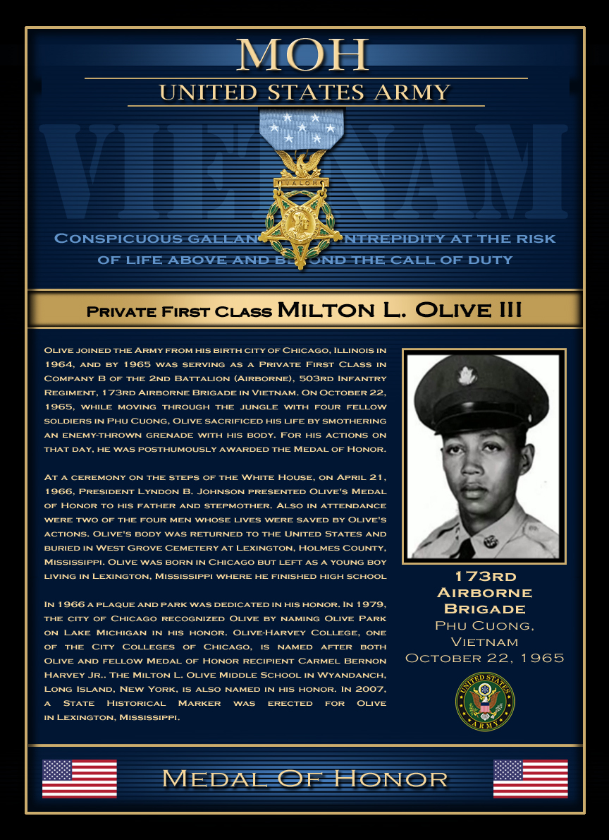 MOH : Private First Class Milton L. Olive III