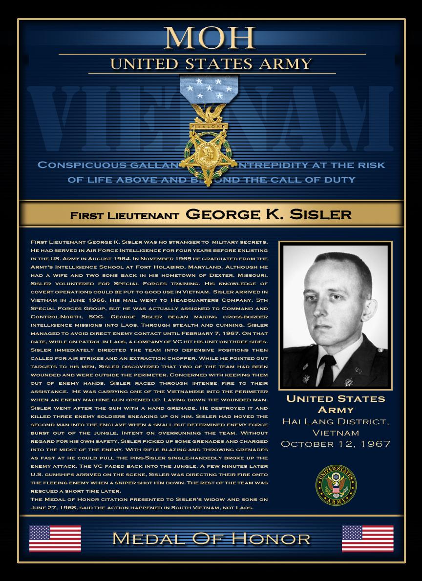 MOH : First Lieutenant George K.Sisler