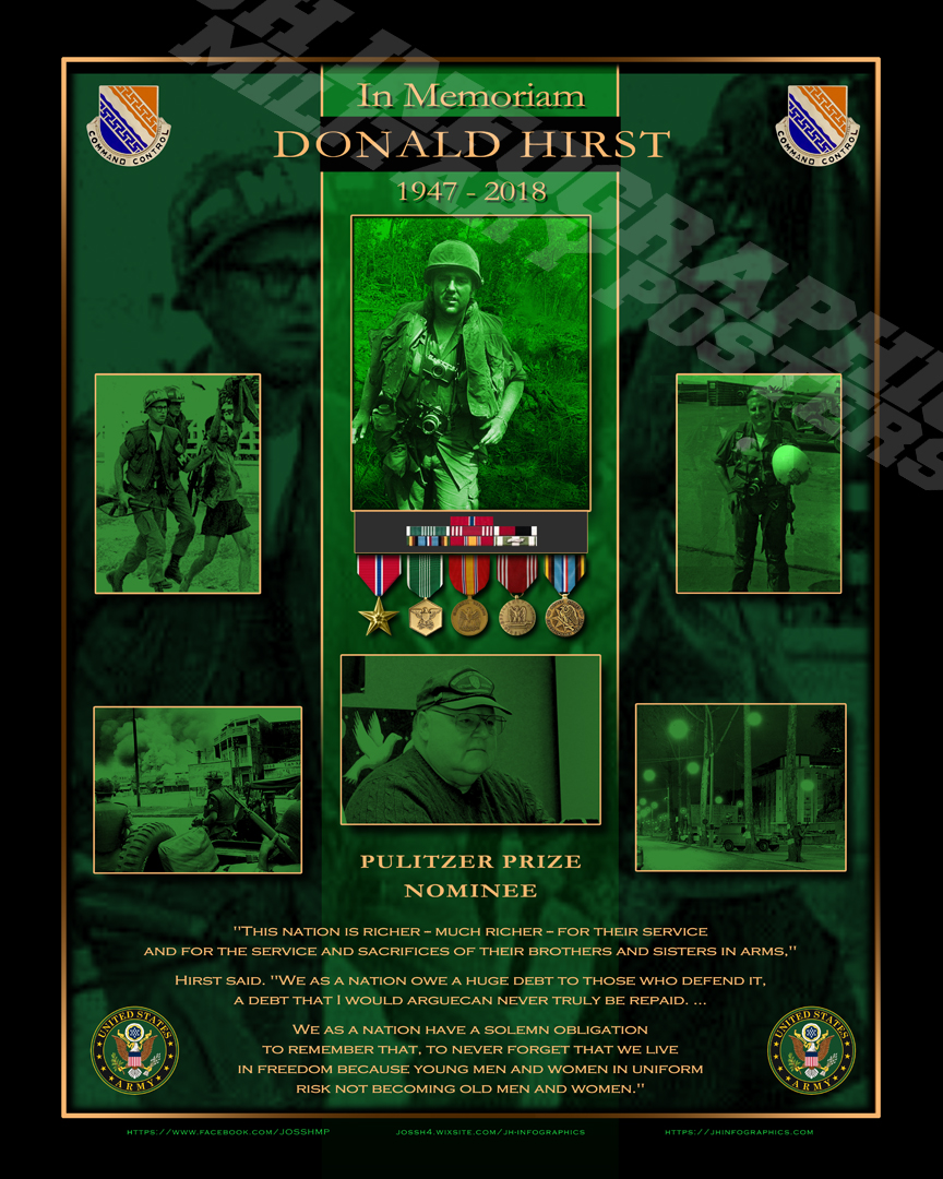 Donald Hirst; War Photographer. R.I.P.
